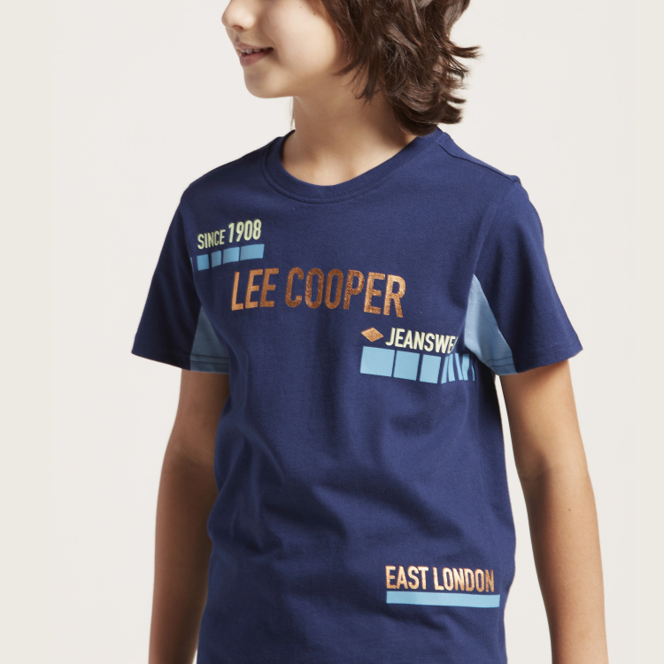 Lee Cooper T-shirt with Round Neck and Short Sleeves