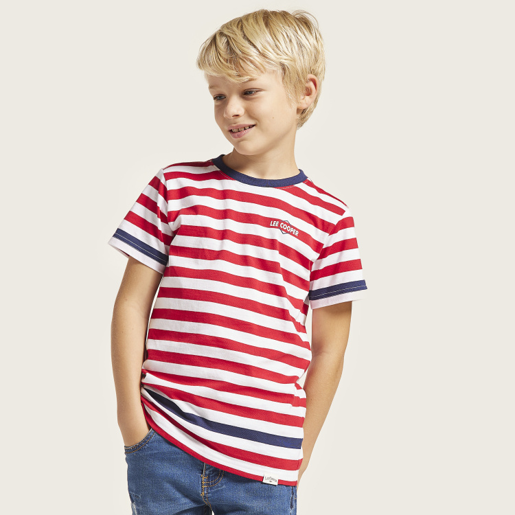 Lee Cooper Striped T-shirt with Short Sleeves