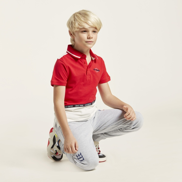 Lee Cooper Polo Neck T-shirt with Short Sleeves