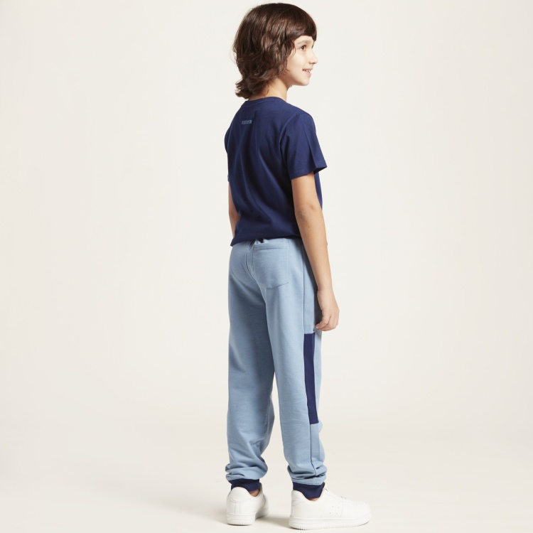 Lee Cooper Print Pants with Pockets and Elasticated Drawstring Waist