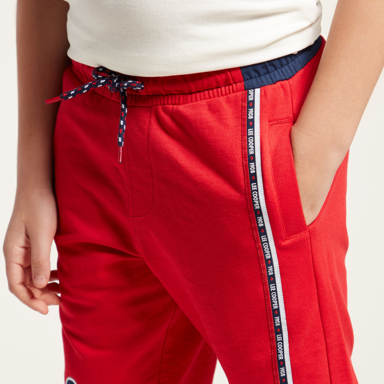 Lee Cooper Print Shorts with Pocket Detail and Drawstring Closure