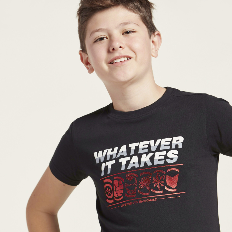 Juniors Printed T-shirt with Short Sleeves