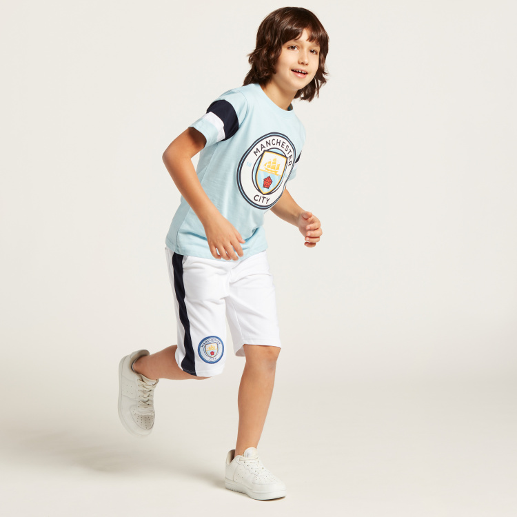Adidas Manchester City Graphic Print T-shirt with Shorts Set