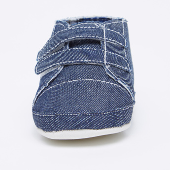Juniors Textured Booties with Hook and Loop Closure