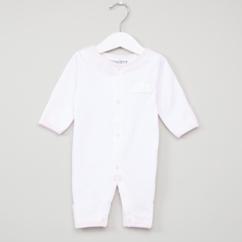 Juniors Striped Round Neck Long Sleeves Sleepsuit