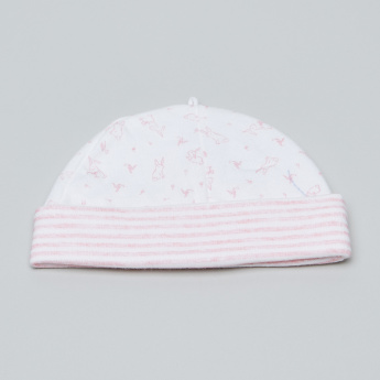 Juniors Beanie Cap with Bunny Print