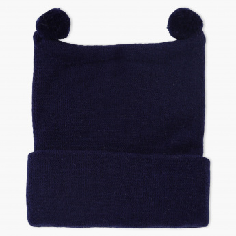 Juniors Beanie Cap with Pom Pom