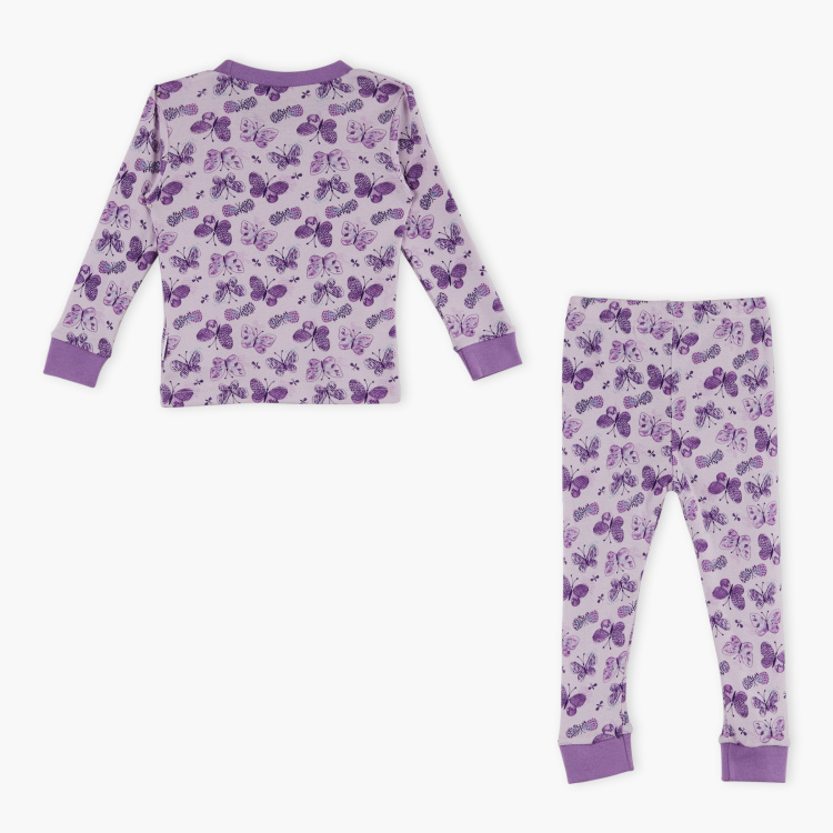 Juniors Printed T-Shirt with Pyjama Set