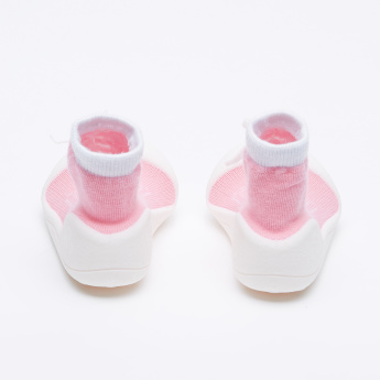 Attipas Textured  Shoes with Bow Applique