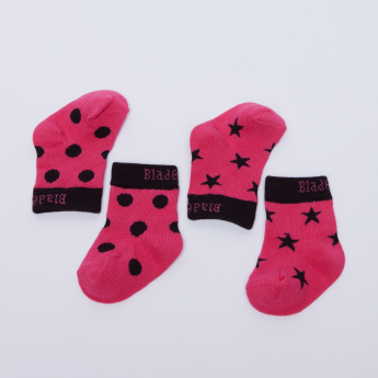 Blade & Rose Textured and Printed Socks - Set of 2