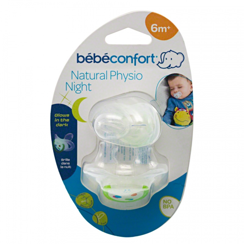 Bebeconfort Natural Physio Night Silicone Soother - Set of 2