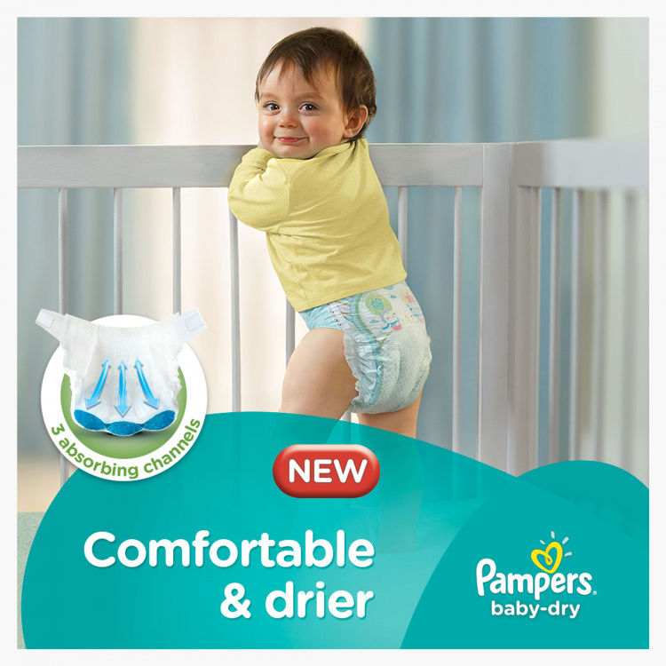 Pampers Baby-Dry Maxi Size 4, 76-Diapers Mega Pack - 8 to 14 kgs