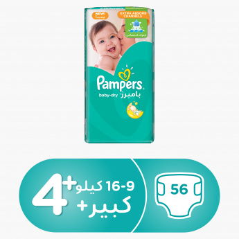 Pampers Baby-Dry Maxi Plus 56-Piece Diaper Jumbo Pack