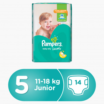 Pampers Baby-Dry Junior 14-Piece Diaper Carry Pack