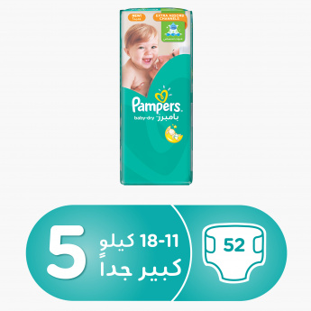 Pampers Baby-Dry Junior 52-Piece Diaper Jumbo Pack