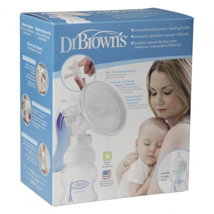 Dr Brown's Manual Breast Pump with Bottle