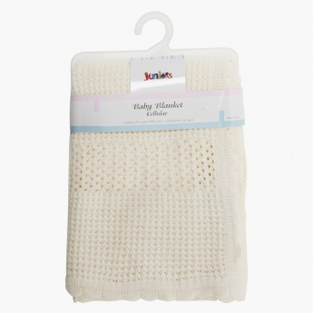 Juniors Knitted Cellular Blanket
