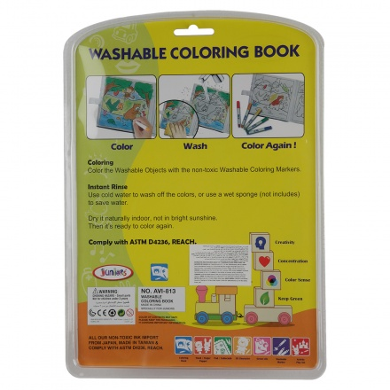 Juniors Sea Animals Washable Colouring Book