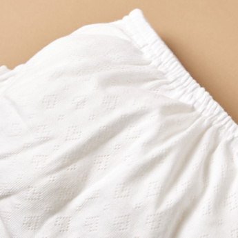 Juniors Textured Bloomer Panty