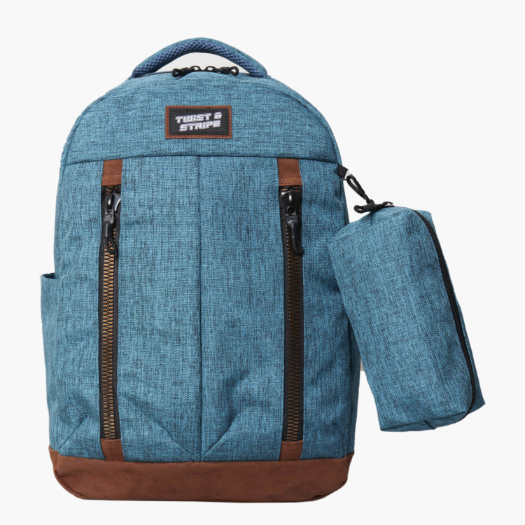 Juniors Textured Backpack with Pencil Case
