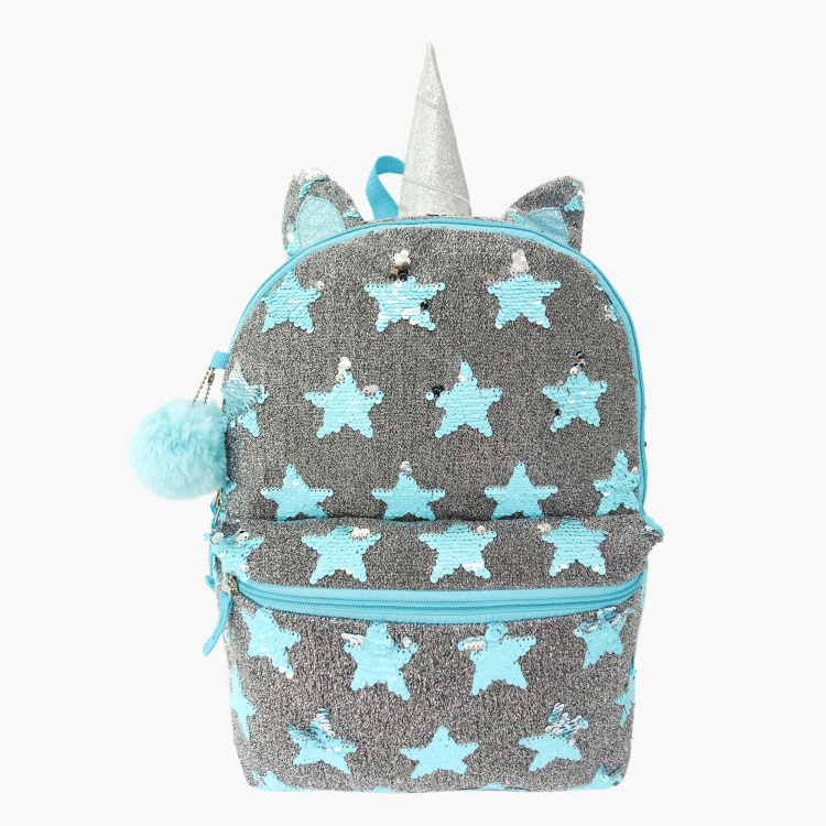 Juniors Sequin Detail Backpack with Adjustable Shoulder Straps