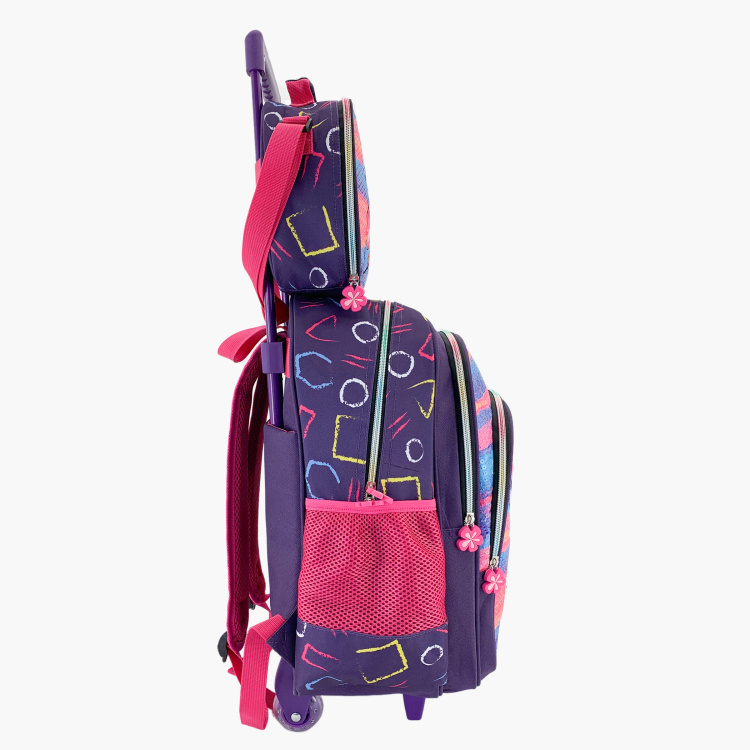 Juniors Applique Detail 3-Piece Trolley Backpack Set