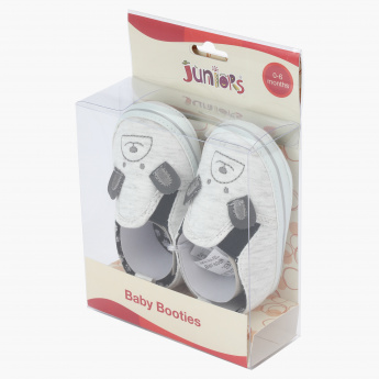 Juniors Baby Booties with Bear Face