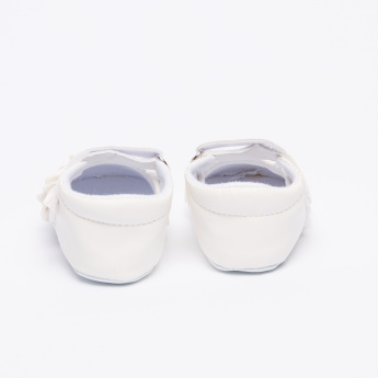 Juniors Shoes with Frill Detail and Hook and Loop Closure