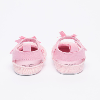 Juniors Textured Baby Shoes with Hook and Loop Closure