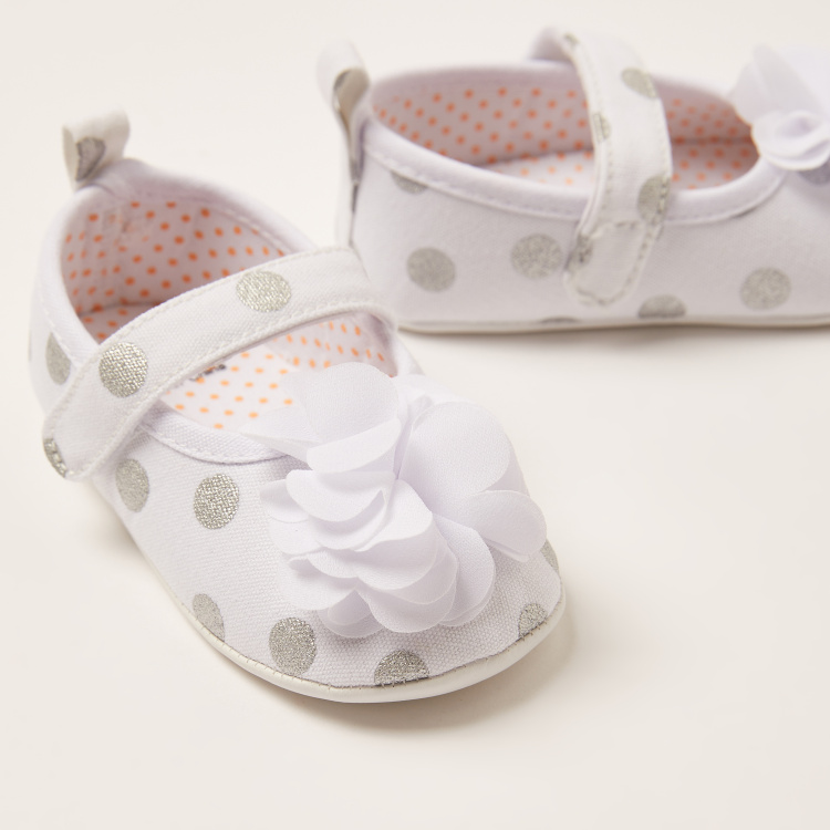 Juniors Printed Booties with Applique Detail