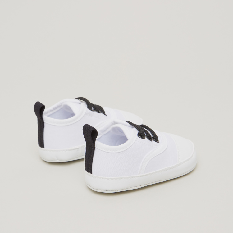 Juniors Lace Detail Slip-On Shoes with Pull Tab