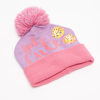 Shopkins Printed Cap with Gloves