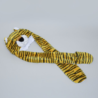 Juniors Printed Tiger Cap Scarf