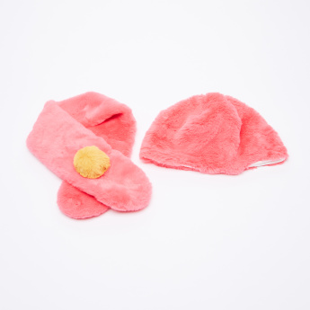 Charmz Plush Cap with Shawl