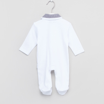 Giggles Collared Long Sleeves Closed Feet Sleepsuit