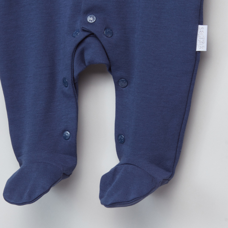 Giggles Bow Detail Long Sleeves Closed Feet Sleepsuit