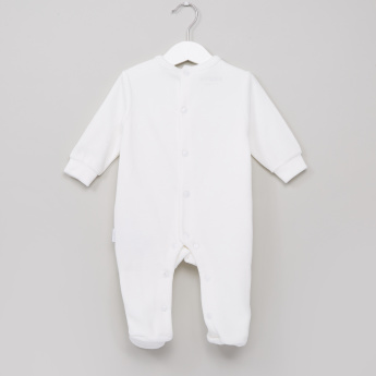 Giggles Textured Closed Feet Sleepsuit
