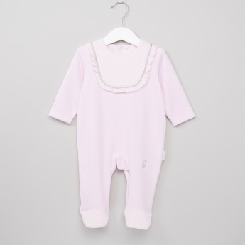 Giggles Frill Detail Closed Feet Sleepsuit