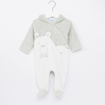 Juniors Applique Detail Closed Feet Sleepsuit
