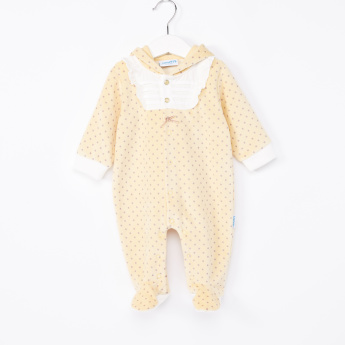 Juniors Closed Feet Hooded Sleepsuit