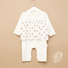 Giggles Printed Pleat Detail Sleepsuit