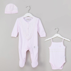 Giggles Textured 3-Piece Clothing Set