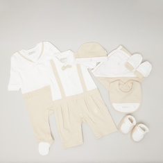 Giggles 8-Piece Logo Embroidered Baby Clothing Gift Set