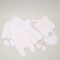 Giggles 8-Piece Embellished Baby Clothing Gift Set