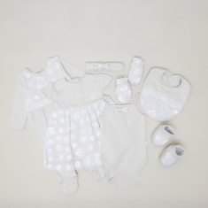 Giggles 8-Piece Applique Detail Baby Clothing Gift Set