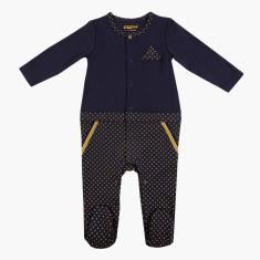 Giggles Printed Sleepsuit with Long Sleeves