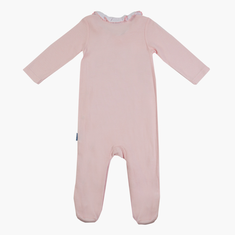 Giggles Frilly Collared Sleepsuit with Long Sleeves