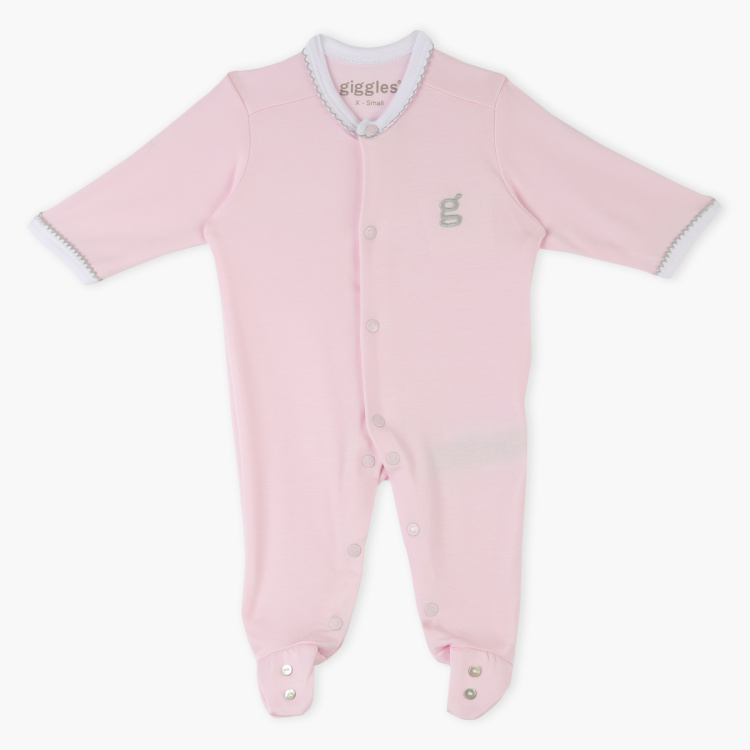 Giggles Embroidered Long Sleepsuit