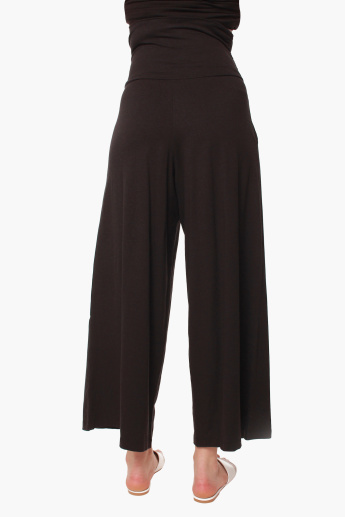 Spring Pleated Full Length Maternity Pants