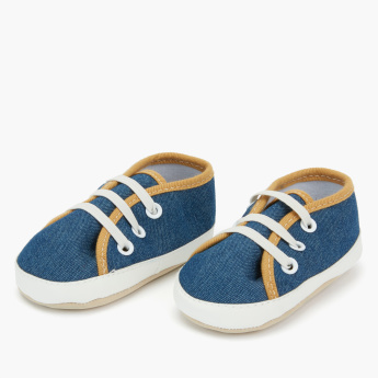Juniors Lace-Up Denim Booties